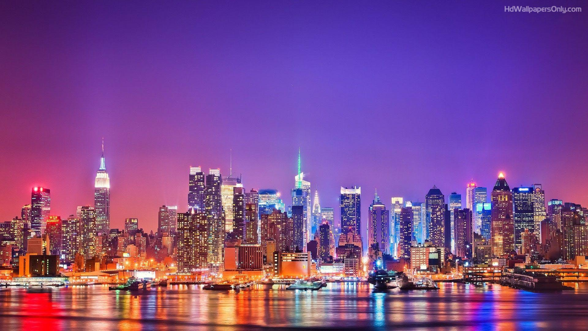 New york city skyline wallpapers high quality download free for New york new york on the town