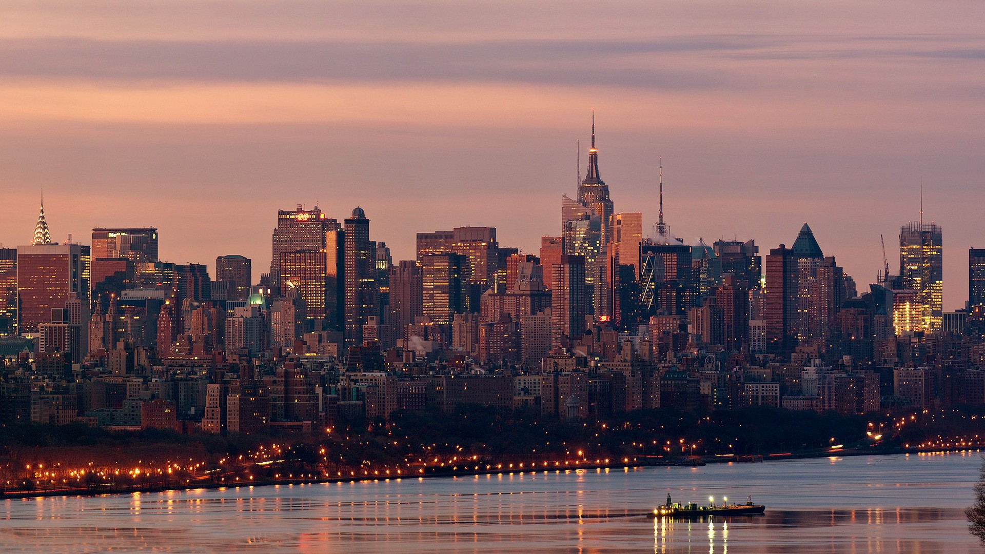 new york city skyline wallpapers high quality download free. Black Bedroom Furniture Sets. Home Design Ideas