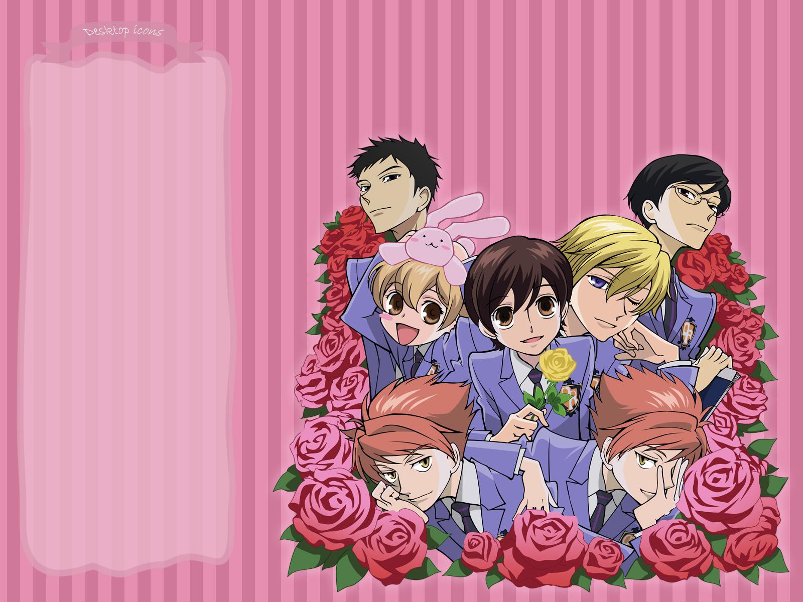 Ouran highschool host club roses