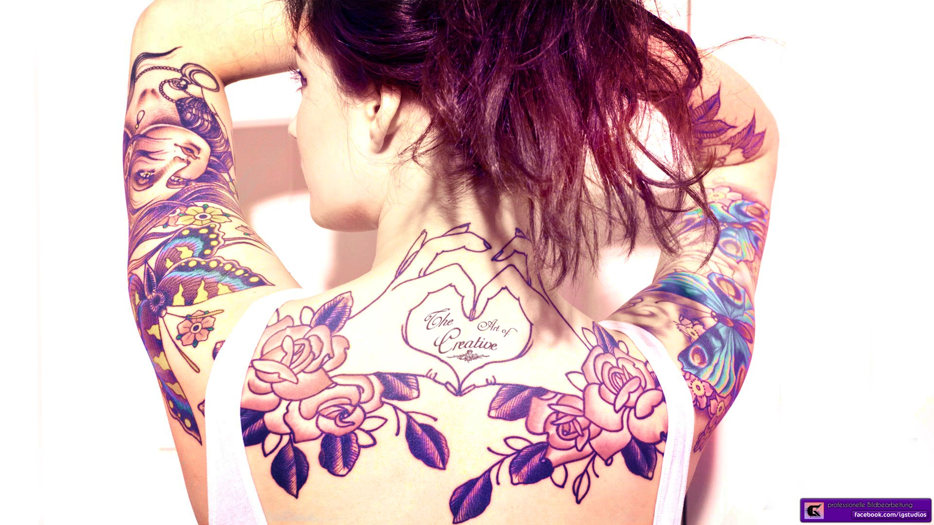 tattoo girl wallpapers high quality download free. Black Bedroom Furniture Sets. Home Design Ideas