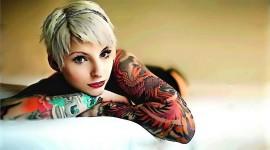 Tattoo Girl Wide wallpaper