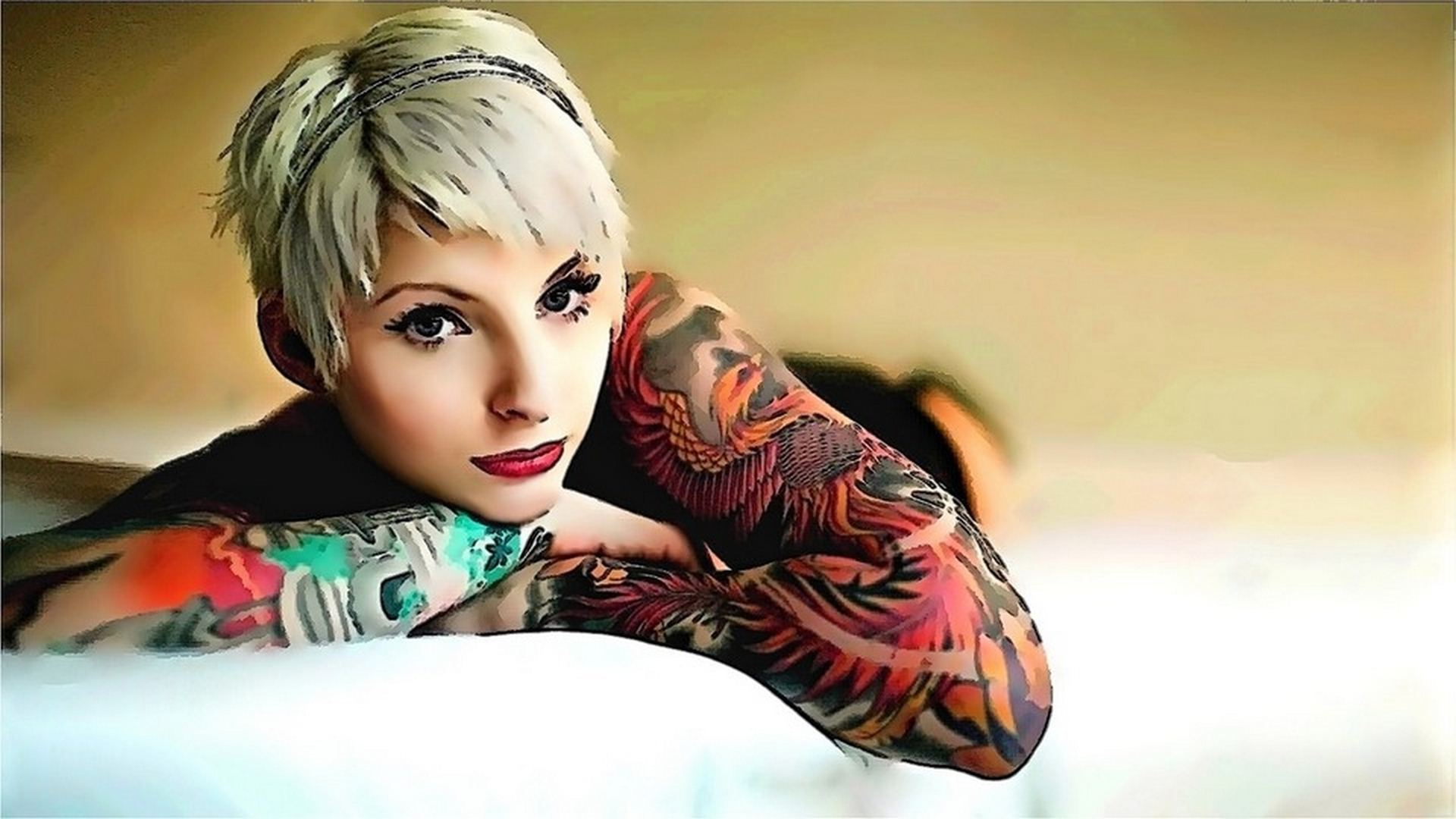 tattoo girl wallpaper