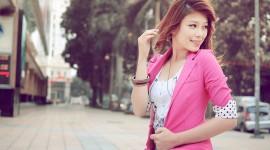 Asian Girl background