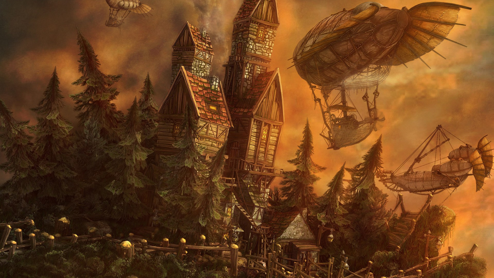 Absolutely Fantastic Hd Fantasy Wallpapers: Steampunk Wallpapers High Quality