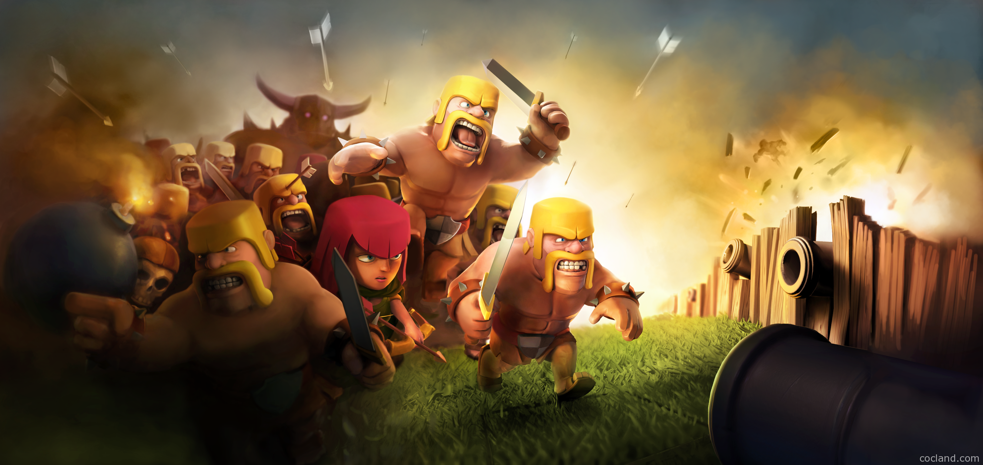 Clash of clans wallpapers high quality download free - Clash royale 2560x1440 ...