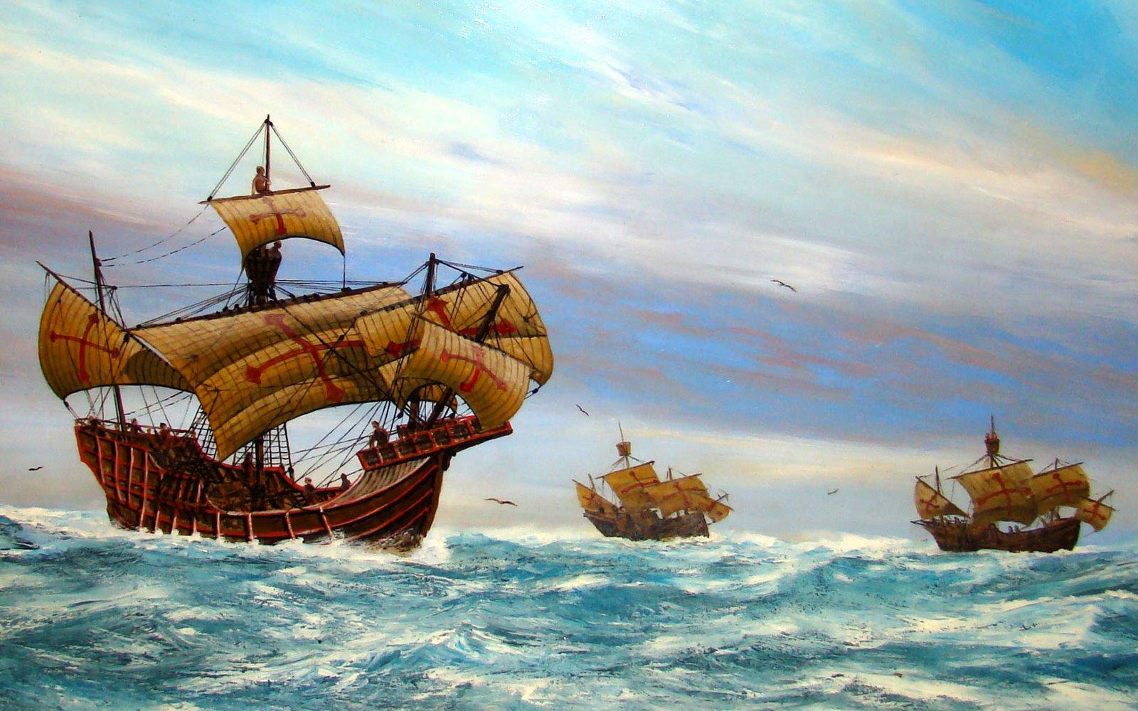 the effects of columbus arrival in the americas American neoclassicist christopher columbus and members of his in 1982 the painting was attached to an aluminum panel to help it resist the effects of changes.