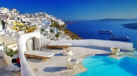 The Island Of Santorini Best Wallpaper