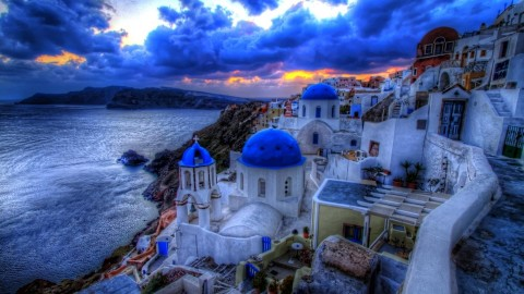 The Island Of Santorini wallpapers high quality