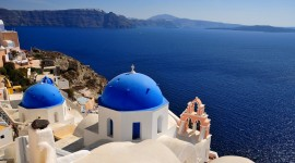 The Island Of Santorini Wallpaper 1080p