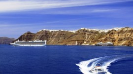 The Island Of Santorini Wallpaper Download