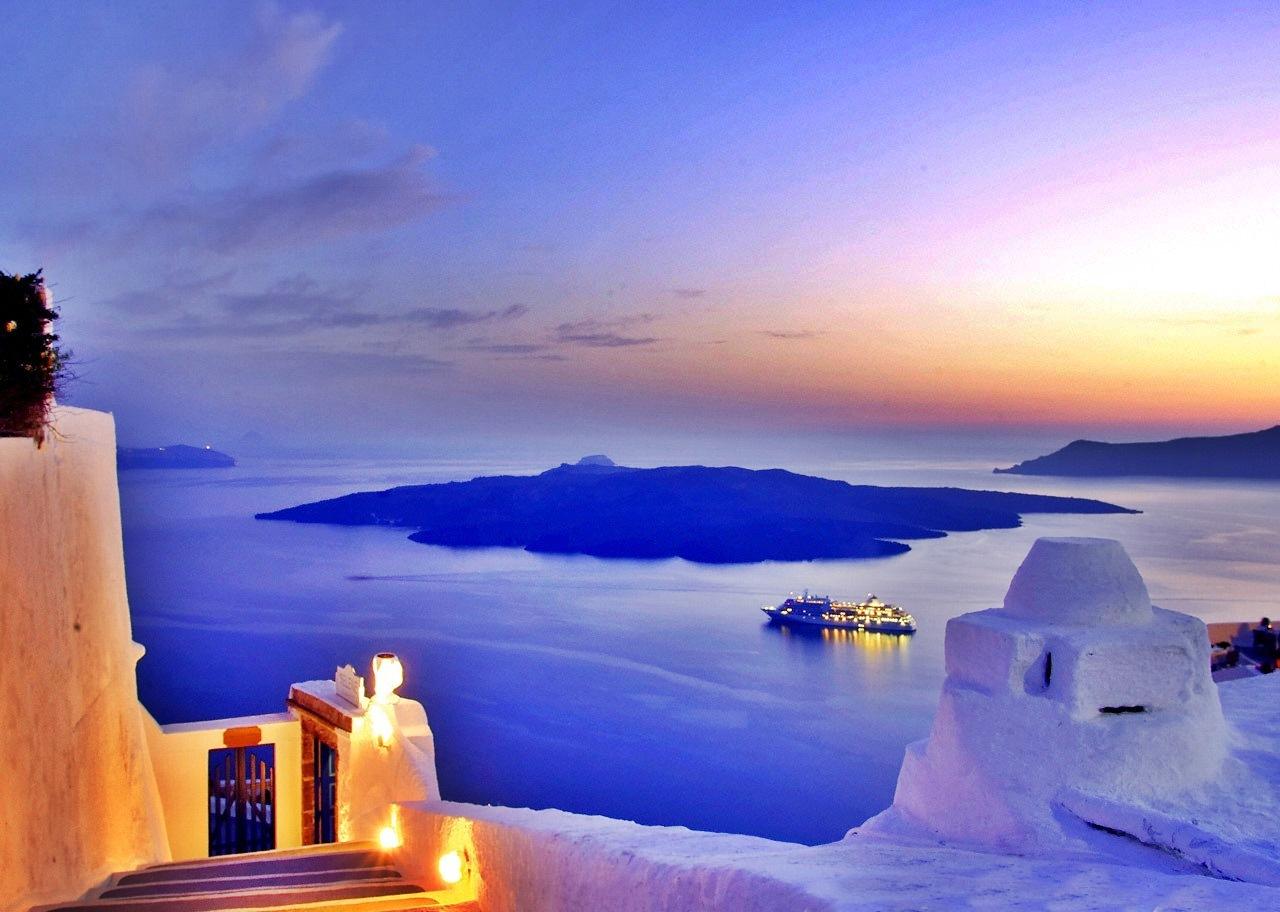 The island of santorini wallpapers high quality download - Santorini wallpaper ...