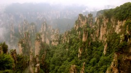 Tianzi Mountain Desktop Wallpaper