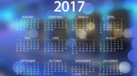 Calendar 2017 Wallpaper Background