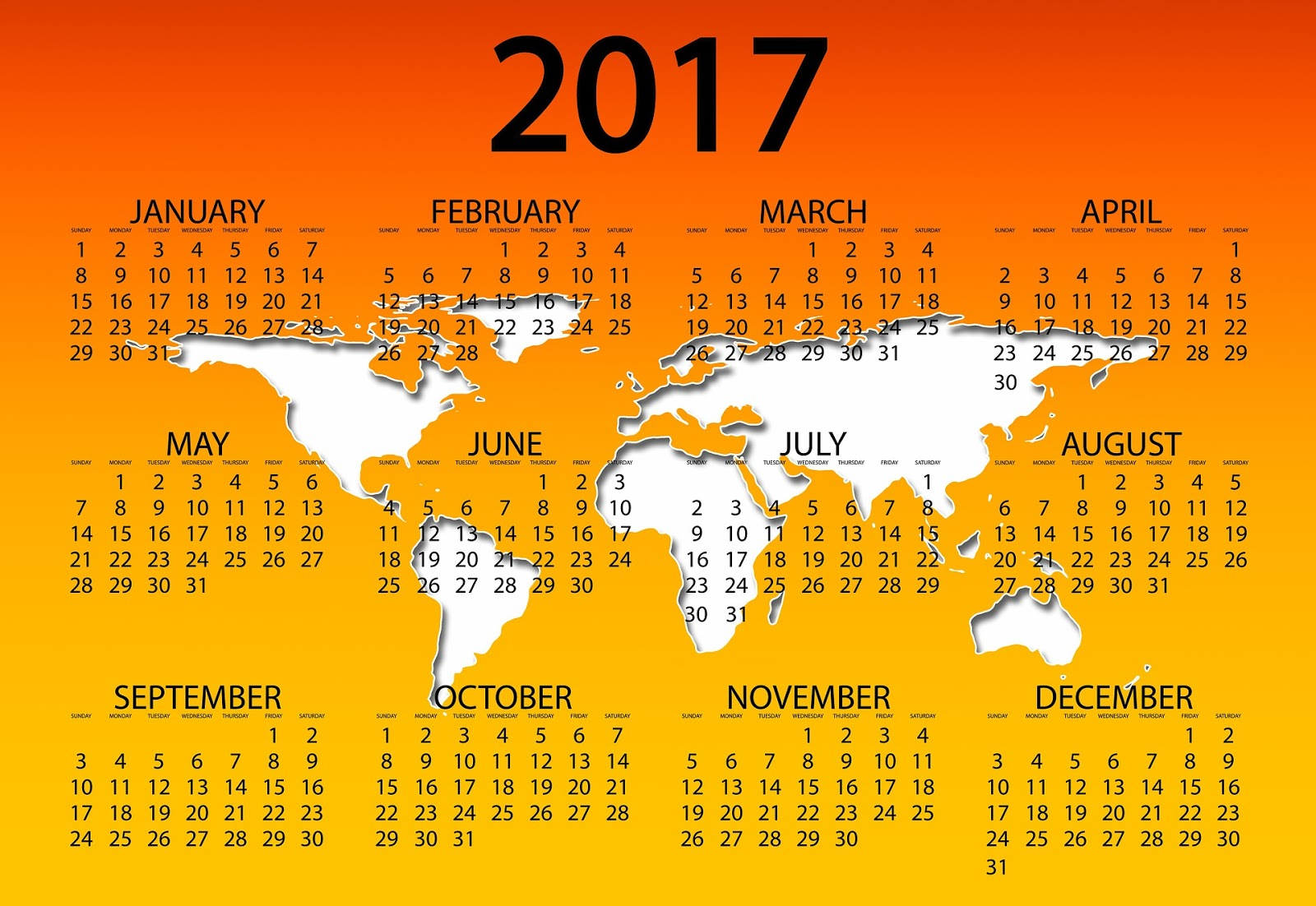 Calendar 2017 Wallpapers High Quality Download Free