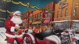 Christmas Art Harley Davidson wallpaper