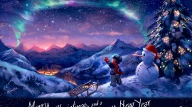 Christmas Art picture free wallpaper