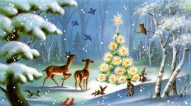Christmas Art wide wallpaper