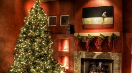 Christmas Fireplace Free 1280