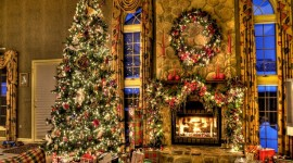 Christmas Fireplace 1920x1200