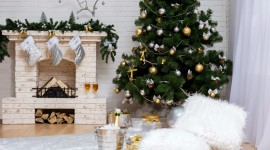 Christmas Fireplace garland ideas photo