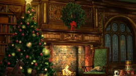 Christmas Fireplace UHD wallpapers