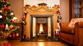 Christmas Fireplace decorations images