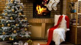 Christmas Fireplace for desktop