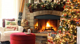 Christmas Fireplace for ipad