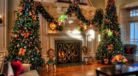 Christmas Fireplace holiday decor 1152x864