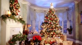 Christmas Fireplace interior HD wallpapers