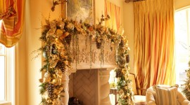 Christmas Fireplace luxurious style decorating picture
