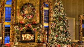 Christmas Fireplace widescreen wallpapers