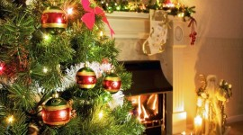 Christmas Fireplace decorations HD wallpapers