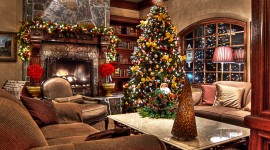 Christmas Fireplace merry xmas HD wallpaper