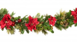 Christmas Garland Photo For IPhone