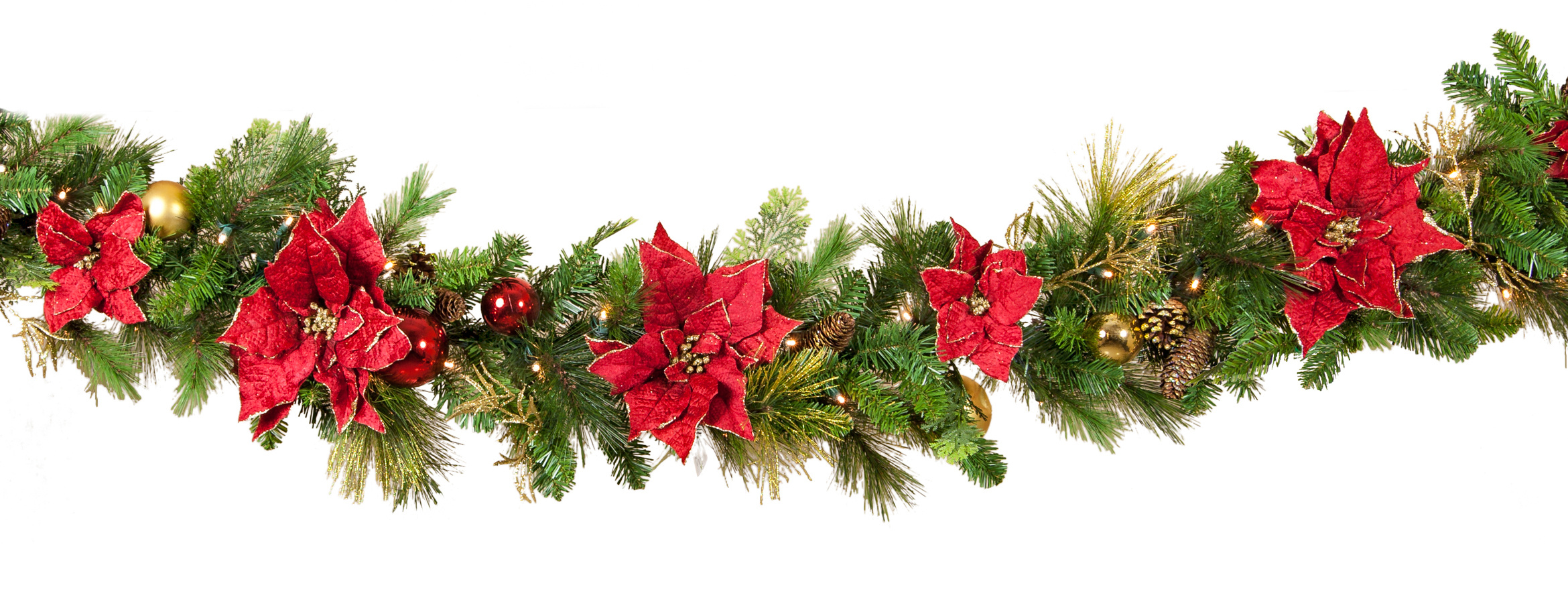 Printable Home Decor Christmas Garland Wallpapers High Quality Download Free
