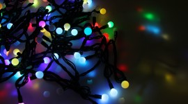 Christmas Garland Wallpaper Background