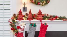 Christmas Garland Wallpaper HQ