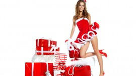 Christmas Girl Wallpaper Full HD