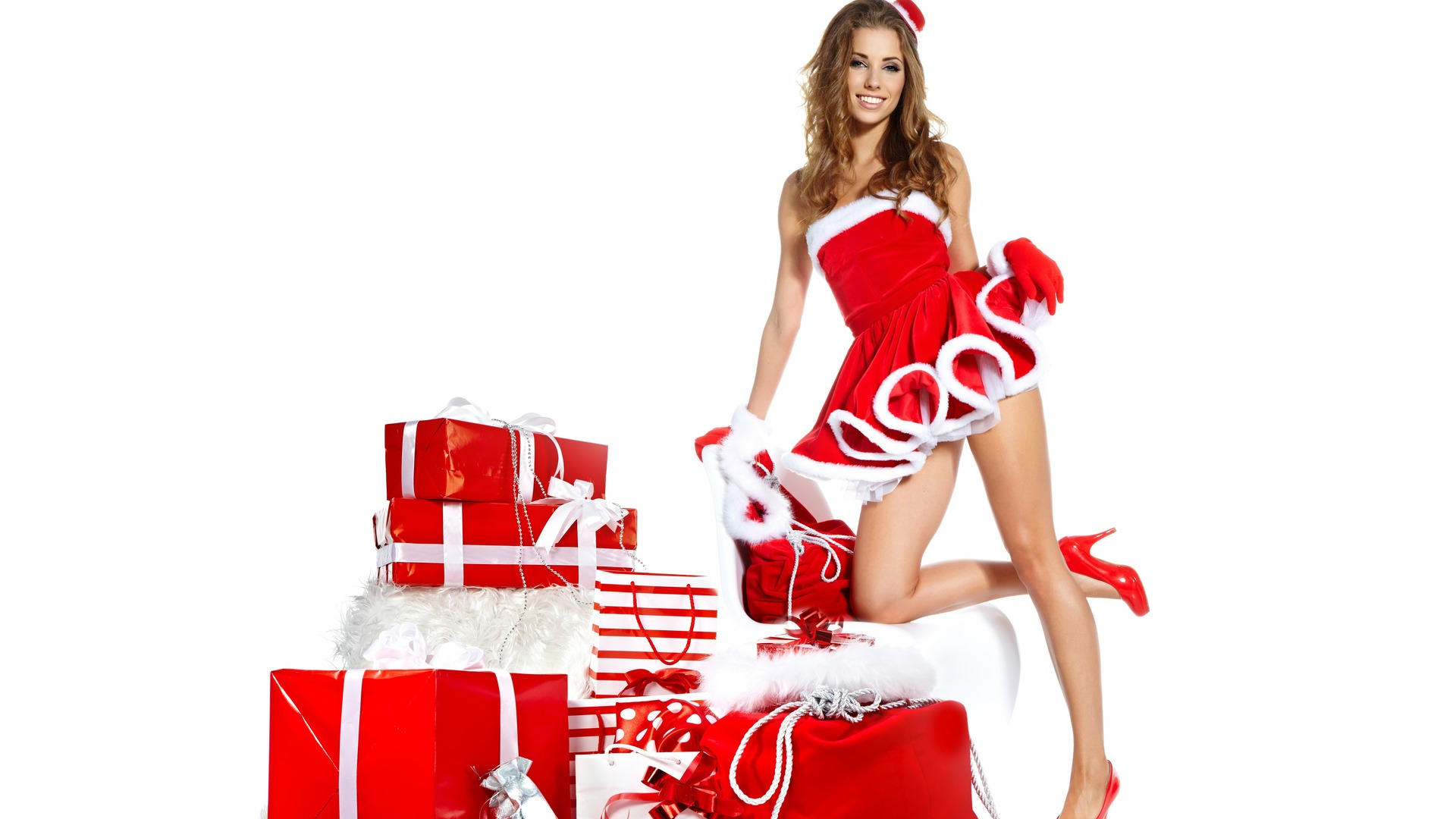 christmas girls wallpapers high quality download free
