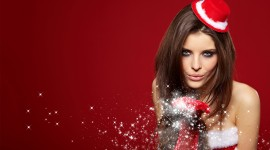 Christmas Girl Wallpaper High Definition
