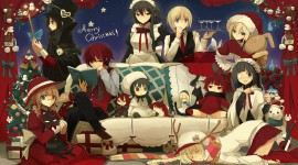 Christmas Girls Anime Photo Download