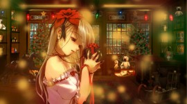 Christmas Girls Anime Wallpaper For Desktop