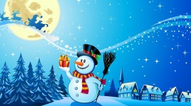Christmas SnowMan HD backgrounds