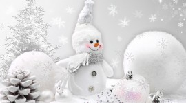 Christmas SnowMan wallpaper Full HD