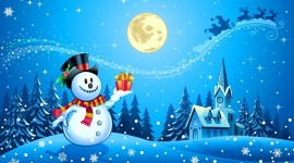 Christmas SnowMan free 4k for desktop