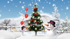 Christmas SnowMan free wallpapers