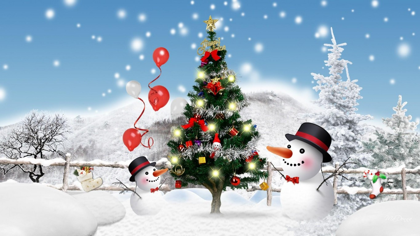 Christmas snowman wallpapers high quality download free - Free christmas images for desktop wallpaper ...