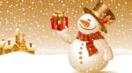 Christmas SnowMan widescreen backgrounds
