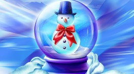 Christmas SnowMan wallpaper for PC computer